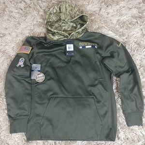 sale retailer 88c4f 9ef04 dallas cowboys salute to service hoodie xxl